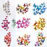 3D Schmetterlinge Doppelflügel Effekt Set Dekoration Wandtattoo 12 Stück