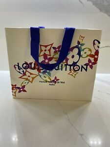 LOUIS VUITTON Holiday Gift Paper Shopping Bag Limited Edition Christmas 2020 NEW