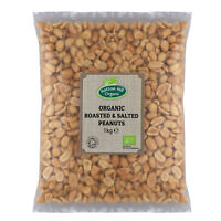 Organic Roasted and Salted Peanuts 1kg Certified Organic