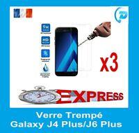Film Vitre Verre Trempe Protecteur d'écran Samsung Galaxy J4 Plus / J6 Plus