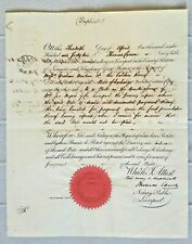 England bill exchange claim at notary Liverpool 1841 stamped paper 10 Shill mark