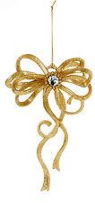 3 X Fiocco Oro Albero Di Natale Appeso Decorazioni Matrimonio Decorazioni Hanger