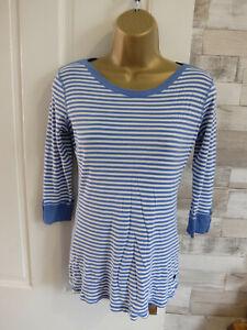 NEXT ● size 10 ● blue white striped tshirt blouse top womens ladies
