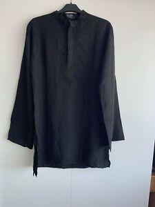 Pretty Green Paul Weller Cotton Embroidered Shirt Kaftan Black M Size RRP £125