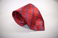 New Hand Made Classic Length Stafford Essentials Red Striped Designer Necktie