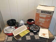 Vintage Hamilton Beach Electric Or Flame Converta-flame Fondue Pot Set NEW