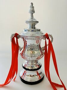 Football Trophy FA Cup Miniature 18CM With Ribbon