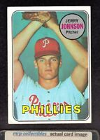 1969 Topps #253 Jerry Johnson Philadelphia Phillies Baseball ROOKIE Card EX