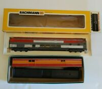 Athearn 1788 SL Baggage Car Bachmann 1254 Passenger Car Lot of 2 Trains With Box