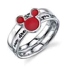 DISNEY MICKEY MOUSE STERLING SILVER 'IF YOU CAN DREAM IT'  YOU CAN DO IT' RING 9