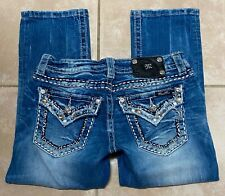 Miss Me Signature Cuffed Capri Stretch Blue Jeans size 27