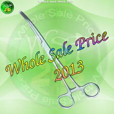 """10"""" Inch Curved End Hemostat Forceps Surgical Instrument Hemo Tool Ce"""