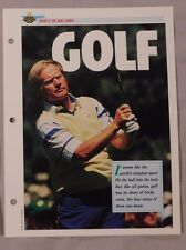 Jack Nicklaus What's the Rule When Sports Heroes Sheet