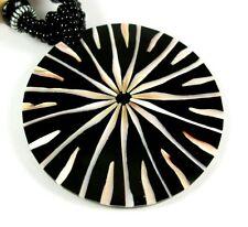 "Handmade Round Cone Shell Pendant 17"" long Beads necklace Women Jewelry AA025"