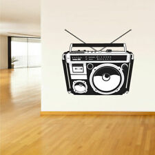 Wall Decal Vinyl Sticker Decals Boombox Stereo Tape Audio Retro (Z2164)