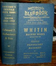 1953 Davison's Textile Blue Book, Machinery, Manufacturers, Great Ads! Maps