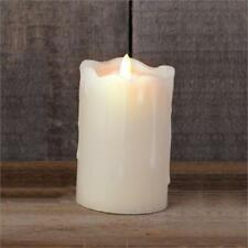 Ivory Pillar Candle with Flickering Flame - Battery operated with Timer