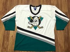 Mens Vtg 90s NHL Anaheim Mighty Ducks Starter Sewn Hockey Jersey Large