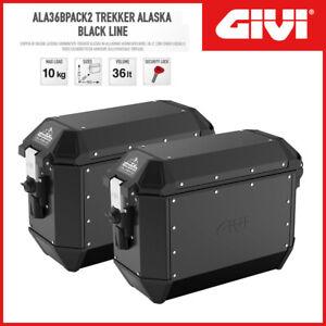 COPPIA VALIGIE LATERALI [GIVI] ALA36BPACK2 TREKKER ALASKA BLACK LINE MONOKEY