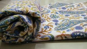 Indian Paisley Hand Block Print Cotton Duvet Cover King/Full Size Bedding Set