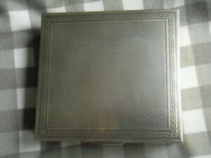 solid silver cigarette box,  its nice. Heavy at 298 gms