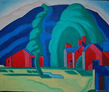 "Original Oil Painting ""MORNING LIGHTS"" on Canvas 24"" x 20"" (Art/Landscape)"
