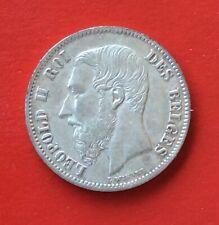Belgique - Léopold II'-  Superbe  Monnaie de 50 Centimes 1866 FR