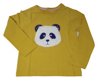 Ex Mini Boden Girls Mustard Top T-shirt with Panda detail age 2-12  NEW