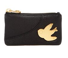NWT Marc by Marc Jacobs Petal to the Metal Leather Key Pouch Black/Brass AUTHNTC