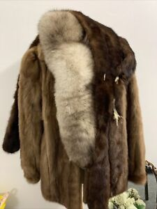 Vintage Fur Coat And Two Stoles/scarf/wrap/collar Job Lot #5973