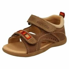 Leather Sandals Hook & Loop Fasteners Shoes for Boys