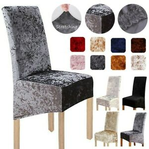 Crushed Velvet Dining Chair Covers Stretchable Protective Slipcover Home Decors
