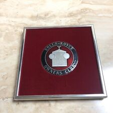 rolls royce owners club Badge Framed Red Lining