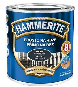 Hammerite Metall-Schutzlack Glänzend  250ml 0,7L 2,5L Rostschutz Farbwahl Lack