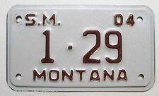 Plaque d Immatriculation de moto USA Montana ( 2004 - M006 )