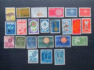 """(L1) Briefmarken """"EUROPA"""" -1957-1977 -23st -Malta, Portugal, Frankreich, Italien"""