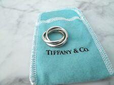 TIFFANY & CO. :: .925 Triple Rolling Ring Interlocking Sz. 4.25 Sterling Silver