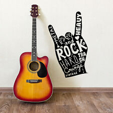 01160 Wall Stickers Sticker Adesivi Murali Decorativi Hand of rock 34x60cm