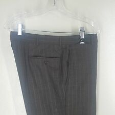 "BROOKS BROTHERS Golden Fleece Flat Front 100%Wool Striped Dress Pants  36""X 26"""