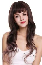 Wig Women's Wig Long Wavy Fringe Braun Pink Ombre Mix H1835-6A/612