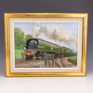 John Hayden Railway Artist Biggin Hill Locomotive - Train Oil Painting On Canvas