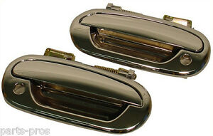New Chrome Outside Exterior Door Handle PAIR / FOR 1997-03 FORD F150 TRUCK