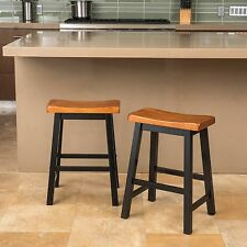 Toluca Saddle Wood Counter Stool (Set of 2)