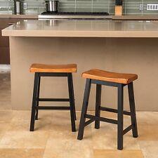 Denise Austin Home Toluca Saddle Wood Counter Stool (Set of 2)