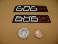 686 JACKETS AND 686 PANTS STICKERS 686 STICKERS SMALL 2 PACK 686 JACKETS