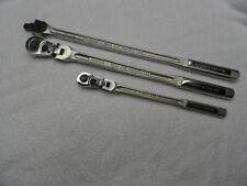 """Craftsman 3/8"""" 1/2"""" Drive Ratchet Flex Head + Breaker Bar Set - 3 pcs"""