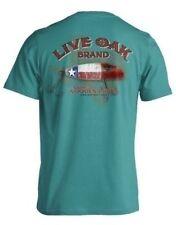 "LIVE OAK BRAND T-SHIRT COMFORT COLOR ""TEXAS FISHING LURE FLAG""  MEDIUM"