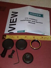 GARDVIEW CCD CAMERA MANUAL AND PARTS * NEW ( UNUSED ) * Lens caps, grommet, plug