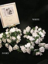 """5 x Cottage Rose Garlands Full Of Flowers 72"""" Long Church Top Table Venue Decor"""