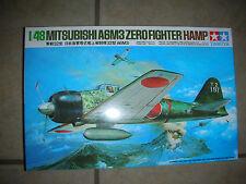 1982 Tamiya Mitsubishi A6M3 Zero Fighter (Hamp) Model Airplane Kit -1:48 (B 17)
